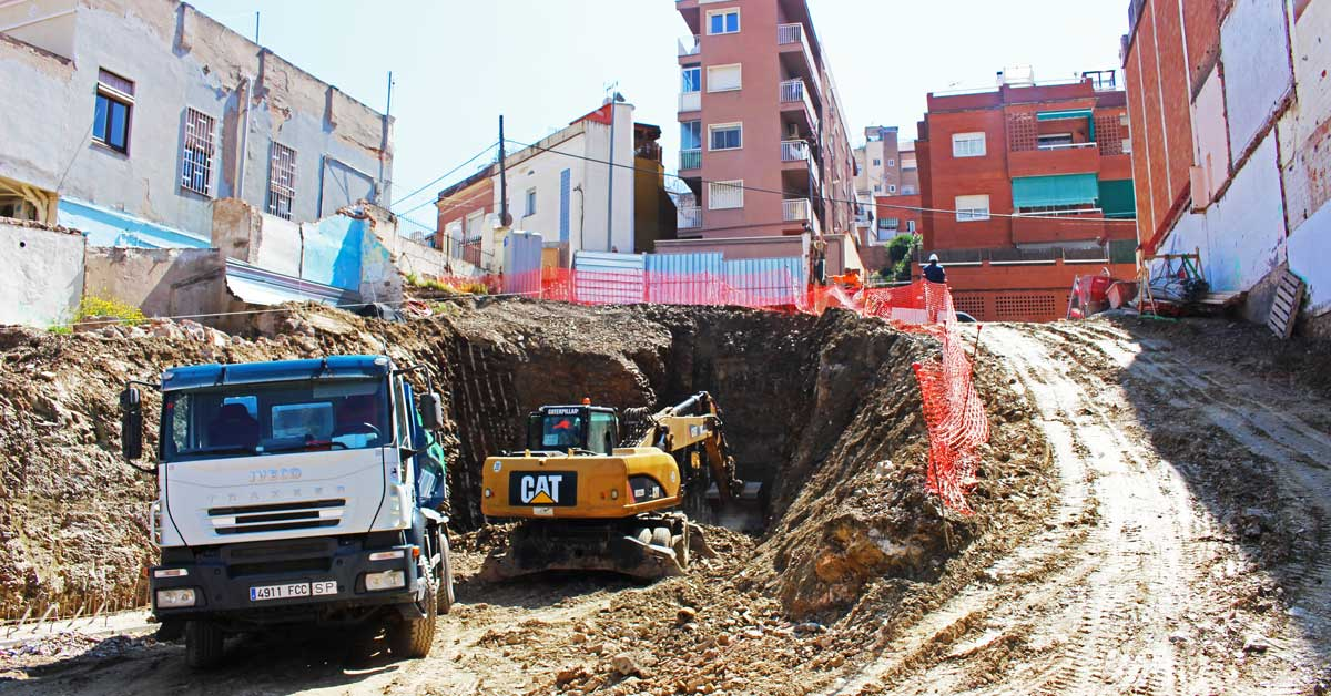 Excavacions Per A La Construcció D'habitatges A Barcelona