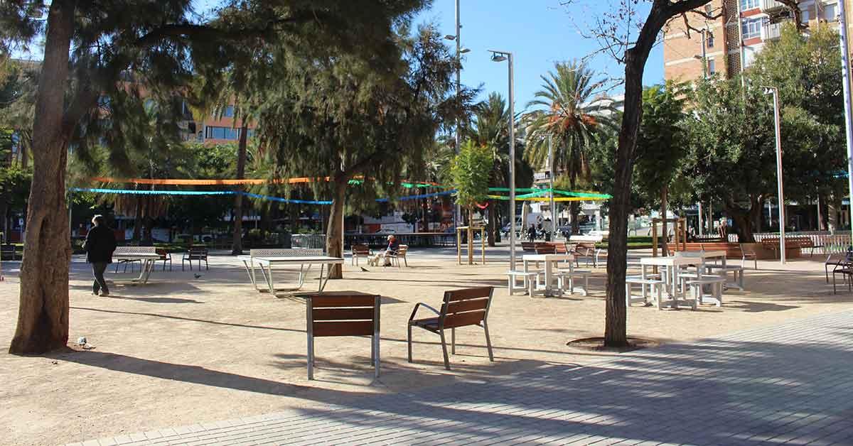 Reurbanització Jardins Elx, Barcelona